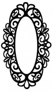 Creative Expressions Singles Rubber Stamp Renaissance Oval Frame